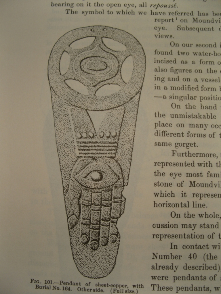 Eye In Hand Gorget Moundville Expediton 1905 Misfitsandheroes