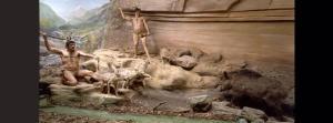 caveman diorama