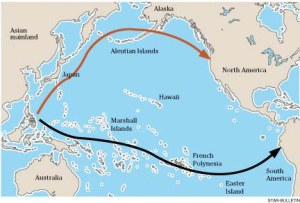 map of South Pacific migrations