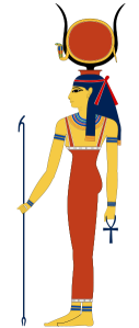 Hathor with cow horns