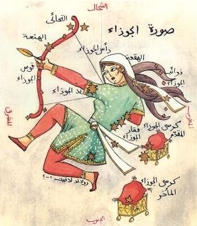 Orion illustration from Heritage Arabe des Noms Arabes Pour Les Etoiles