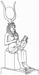 Egypt -Isis suckling Horus