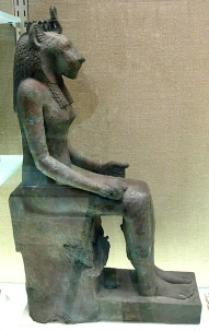 Sekmet seated