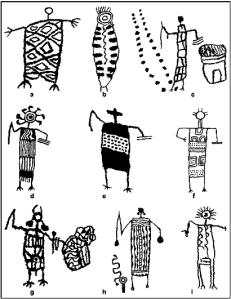 Patterned body anthromorphs, Coso Range, CA
