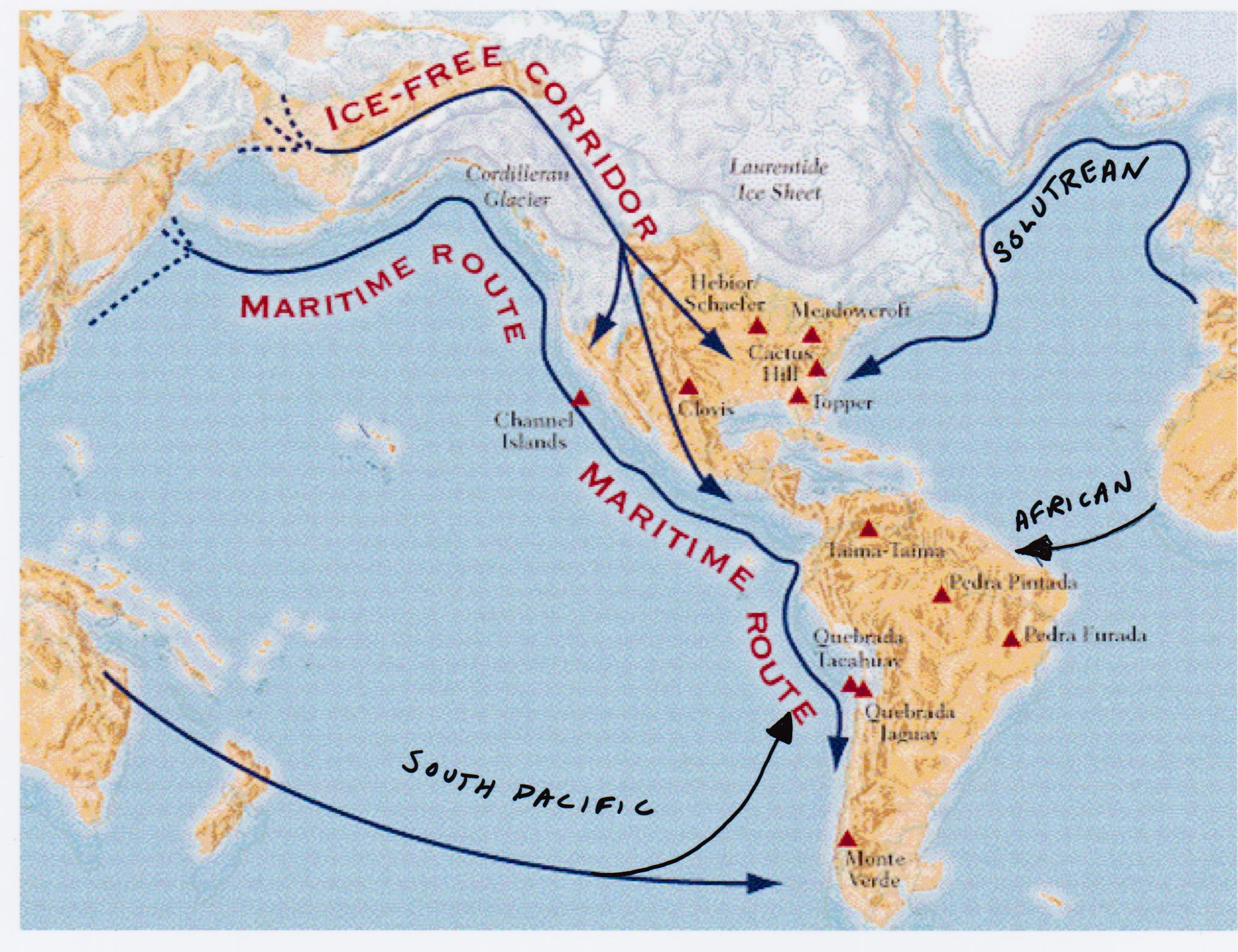 The theory of early migration to the americas