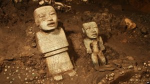 Greenstone figurines