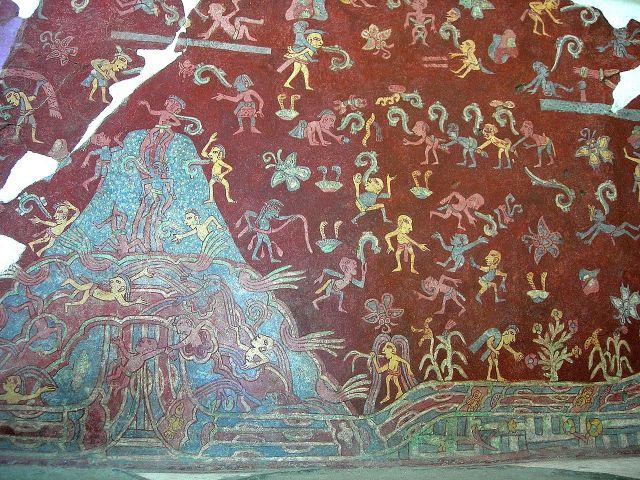Teotihuacan Tepantitla_Mountain_Stream_mura