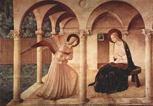 angel appearing to Mary