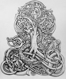 tree yggdrasil_and_dragon_by_tattoo_design-d7652i2
