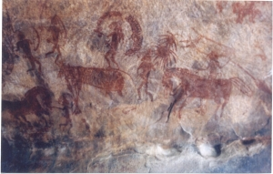 rock art India Bhimbetka_rock_paintng1