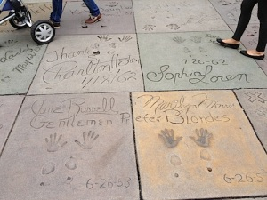 rock hands - Walk of Fame, Chinese Theater