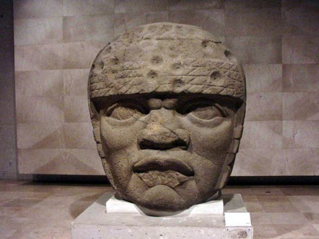 Olmec giant head b