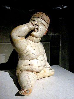 Olmec_baby-face_figurine_(Bookgrrrl)