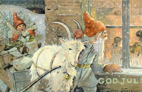 Goat and elves-Nystrom_God-Jul_10