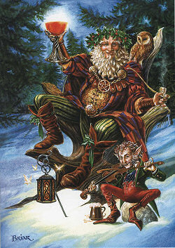Santa festive druid with elf