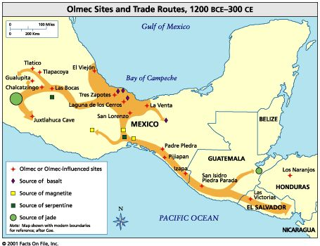 Olmec map