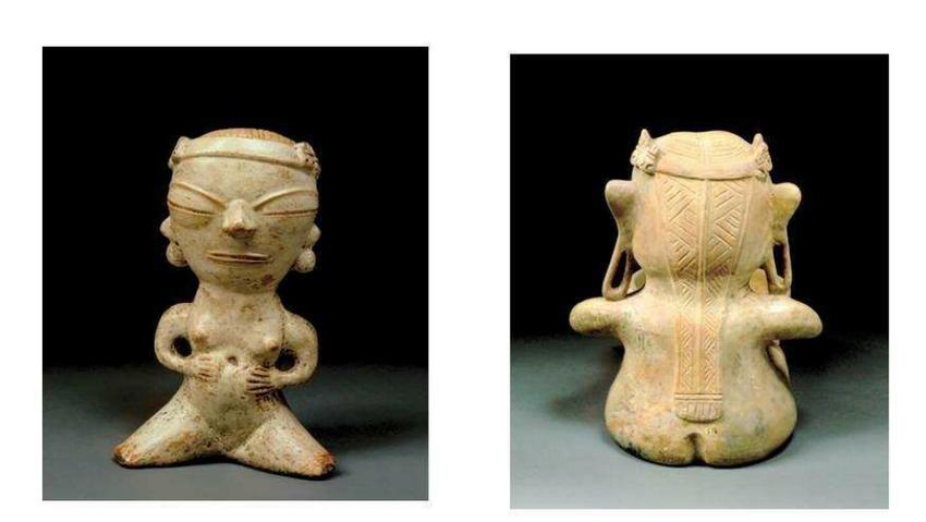 woman pregnant, Santarem pottery